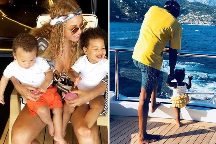 Beyonce shares cute new pic of twins Rumi and Sir on holiday in Italy with Jay Z and daughter Blue Ivy