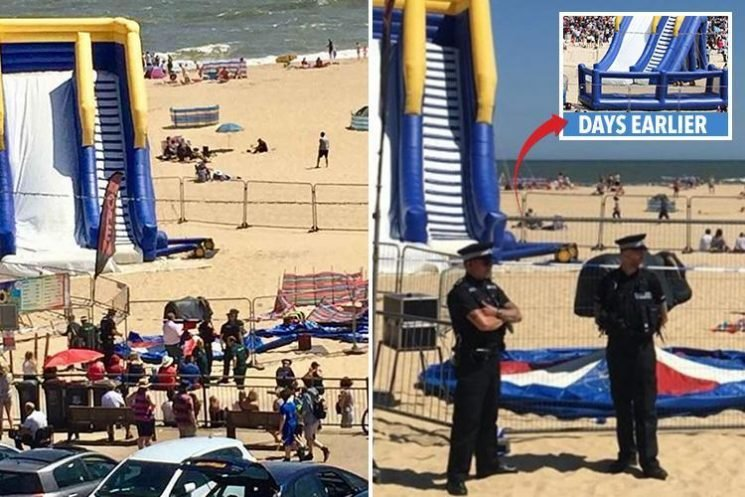 Young girl dies after being thrown from bouncy castle as it 'exploded' in front of horrified families on Gorleston beach