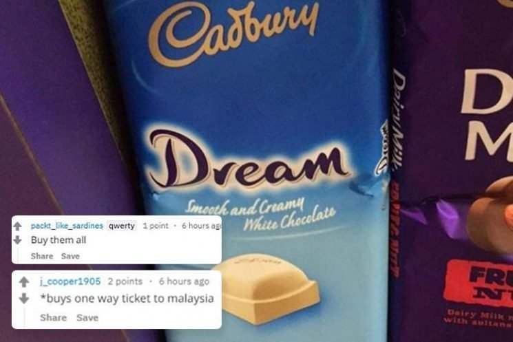 Chocolate lovers in a frenzy as Brit holidaymaker spots rare Cadbury Dream bar for sale in Malaysia years after they were controversially pulled from UK shelves