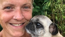 "Dog lover who beat cancer with help of 32 pug dogs says ""dying wasn't an option"""