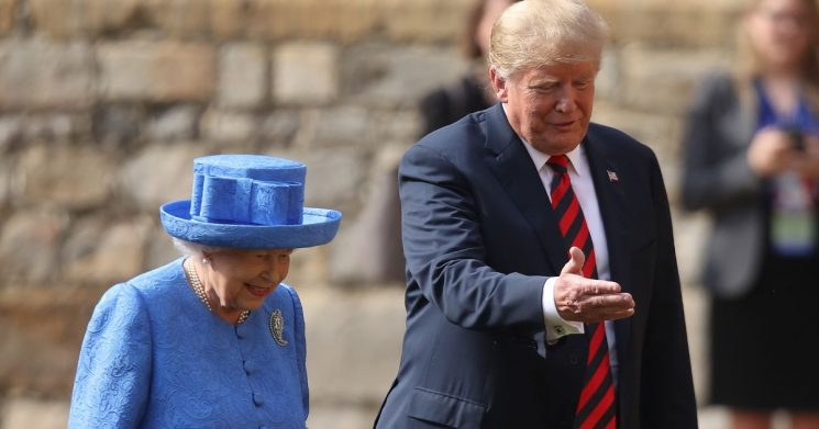 How Donald Trump tried to assert his dominance over the Queen