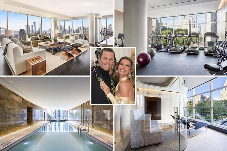 Gisele and sports star husband Tom Brady sell their lavish New York apartment for £10.5 million