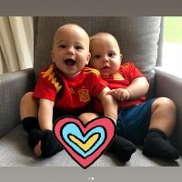 Anna Kournikova's Twins Make the Cutest World Cup Cheerleaders in Matching Soccer Jerseys