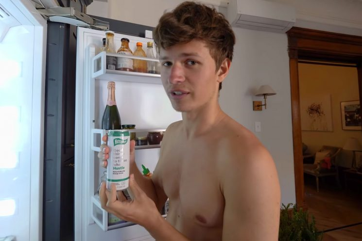 Ansel Elgort Invests in New Matcha Drink Brand—and Promotes the Partnership with Shirtless Video