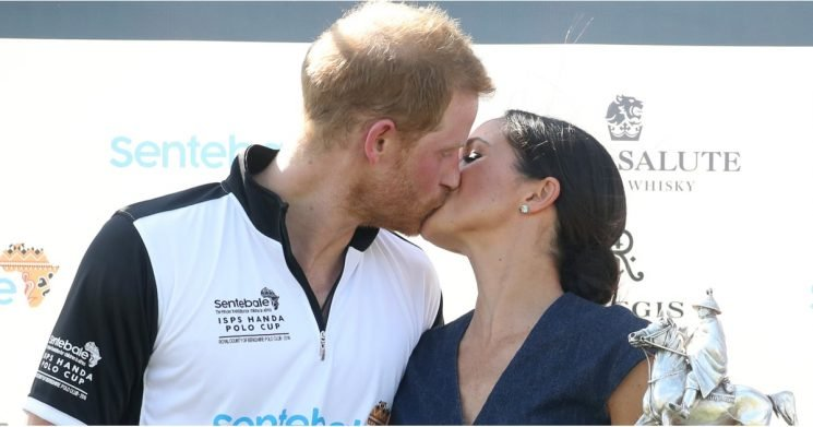 Prince Harry Plants a Kiss on Meghan Markle After His Polo Match, and Wow, My Heart