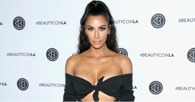 Kim Kardashian's Short Black Dress Is Barely Staying on Her Body — She Had to Wear Shorts Underneath It