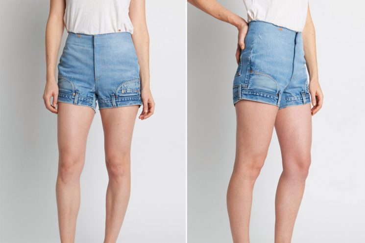 There's something off about these denim shorts