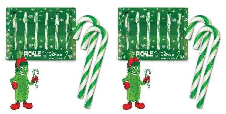 Pickle-Flavored Candy Canes Exist & You Can Buy Them In 6-Packs On Amazon