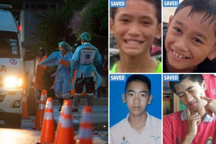 Thai cave rescue – Deadly mission begins to save remaining eight schoolboys and coach trapped in Thai cave after first four lads are brought out alive