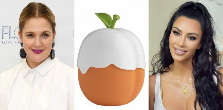 Kim Kardashian and Drew Barrymore Are Having an Instagram Love Fest Over the Kimoji Peach Fragrance