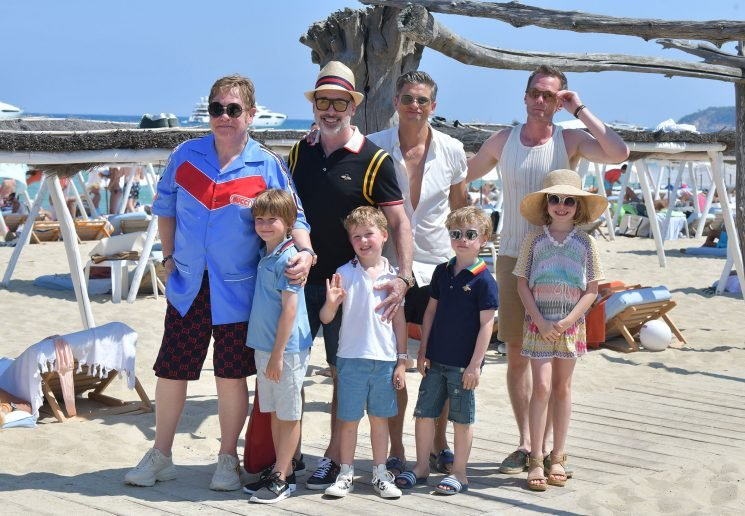 Neil Patrick Harris and Elton John Take Their Families on Vacation – See the Adorable Kid Pics
