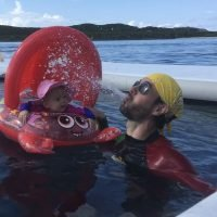 Hear Enrique Iglesias' Baby Giggle as Singer Imitates a Whale During Family Day in the Water