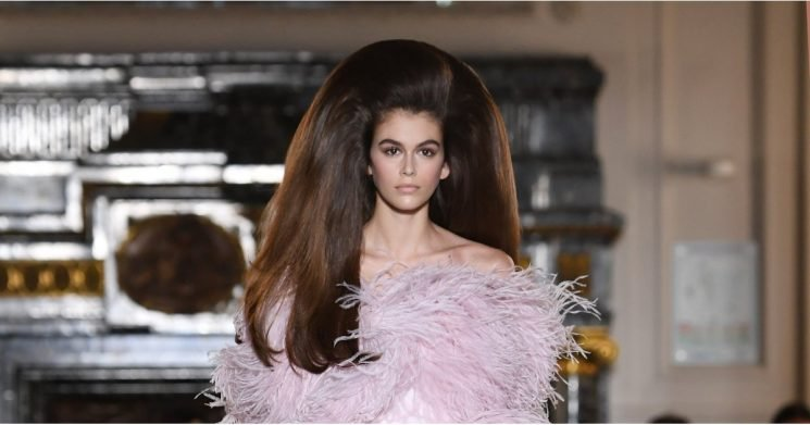 Kaia Gerber's Paris Fashion Week Wig Is So Big, You'd Think It Was Photoshopped