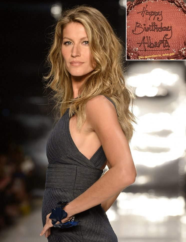 'Sorry Alberto': Gisele Bündchen Hilariously Reveals She Got the Wrong Cake on Her 38th Birthday