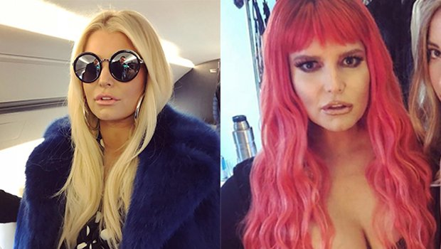 Jessica Simpson Rocks Sexy Red Hair & Major Cleavage For Her Birthday — See Pics