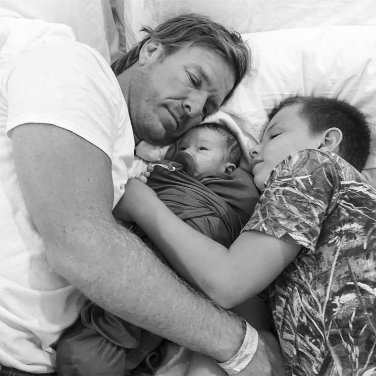 Joanna Gaines Shares Adorable Photo of Baby Crew In a 'Cuddle Fest' with Dad Chip & Big Brother