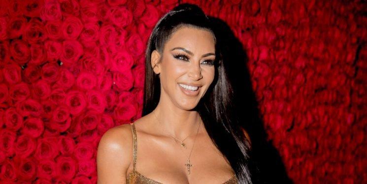 Kim Kardashian Balanced Her New Bootyful Perfume Bottle on Her Butt