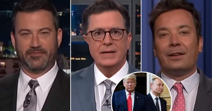 Late-Night Hosts Mock Trump's 'Disgraceful' Summit with Vladimir Putin: 'He's an Idiot Who Got Played'