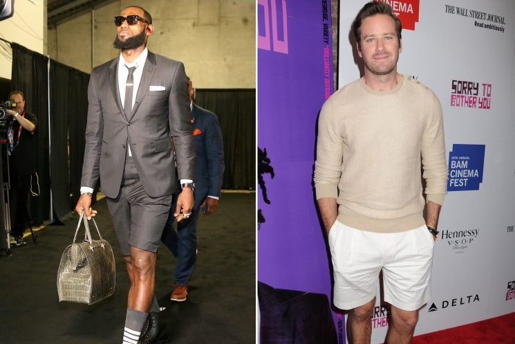 Sure, men can wear shorts — but should they?