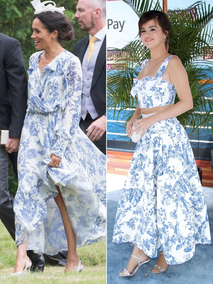 Pop Royalty! Selena Gomez Borrows from Meghan Markle's Wardrobe in the Sexy Version of Her Wedding Guest Dress
