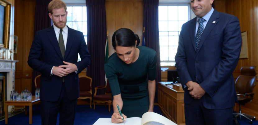 Meghan Markle's Handwriting Outshines Prince Harry's On Royal Trip To Ireland