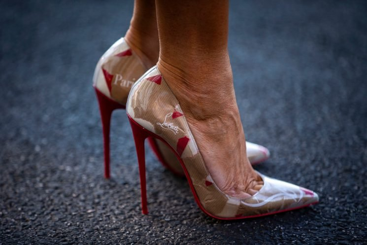 Melania Trump's travel shoes are sky-high Louboutins
