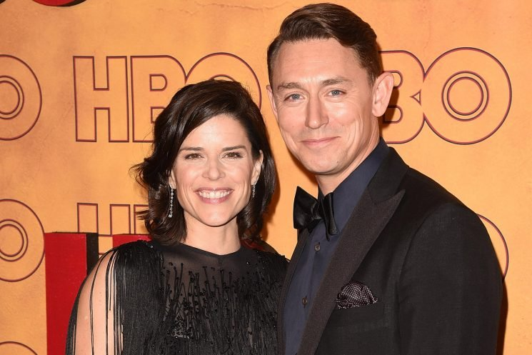 Neve Campbell and her boyfriend adopt baby boy