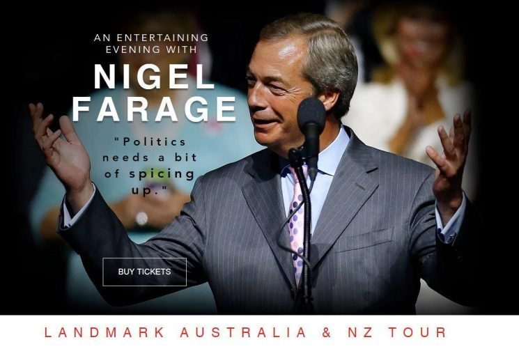 Nigel Farage charges fans more than £500 to have dinner with him as he heads to Australia for £50-a-ticket speaking tour