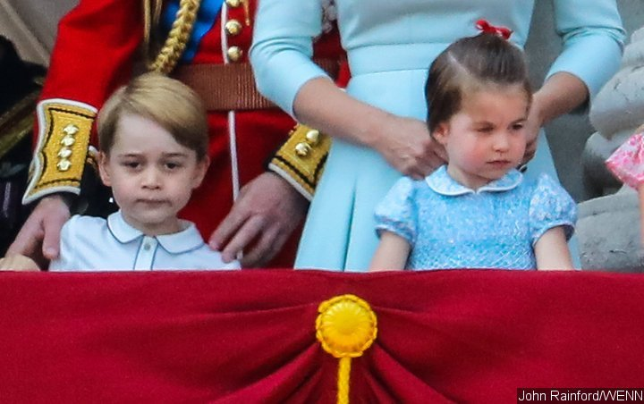 Pics: Prince George and Princess Charlotte Goof Around, Stick Out Tongues During RAF Flypast