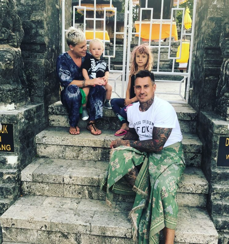 Family Vacation! Pink and Husband Carey Hart Smile Alongside Their Kids During Trip to Bali