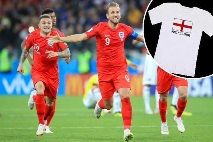 PrettyLittleThing are giving away 20,000 free England t-shirts… but there's a catch