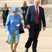President Trump Awkwardly Blocked Queen Elizabeth — and Twitter Has Some Thoughts