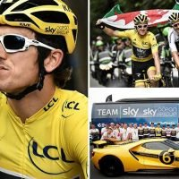 Tour de France: Welshman Geraint Thomas celebrates Yellow Jersey win with champagne and Ford GT supercar before riding into Paris