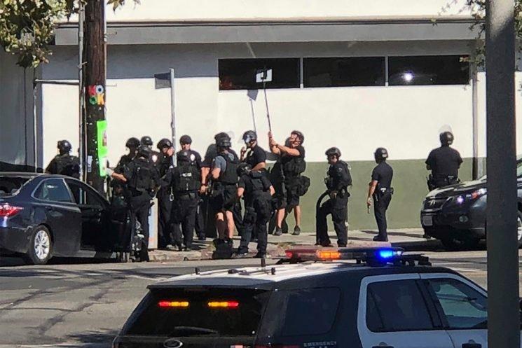 Shooting suspect 'barricaded' inside Trader Joe's: cops