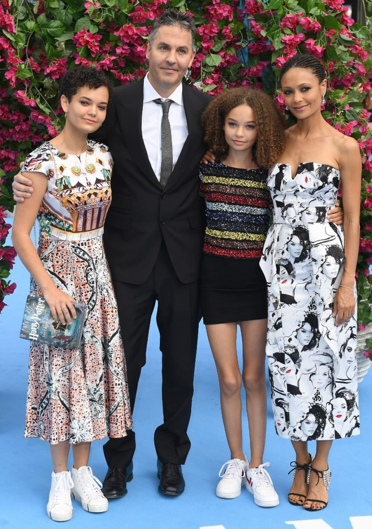 Mamma (and Dadda) Mia! Thandie Newton and Andy Garcia Take Their Kids Out for Premiere Day
