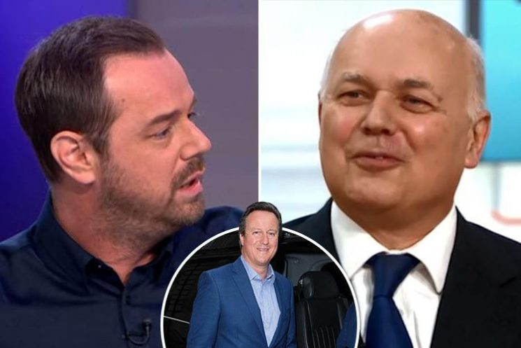 Former Tory leader Iain Duncan Smith hints he agrees with Danny Dyer that David Cameron is a 't**t'