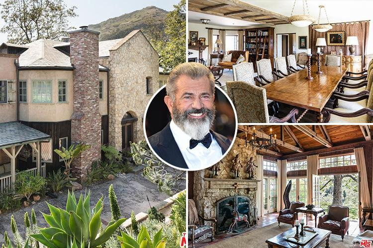 Mel Gibson is selling his £15m Game Of Thrones-style mansion with medieval-looking fireplace, rustic chandeliers and dining room fit for a feast