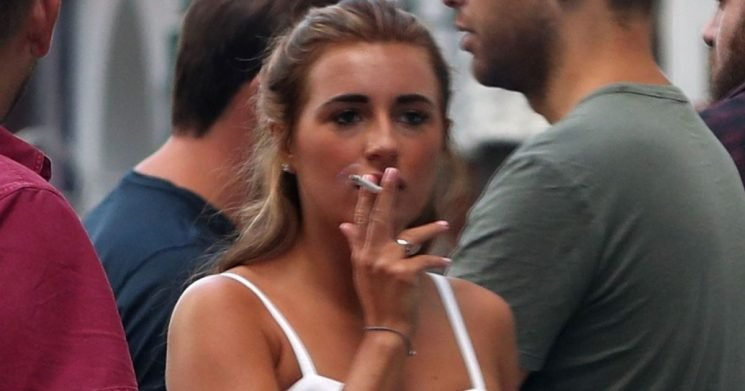 Love Island stars get their smoke on after bosses banned cigarettes