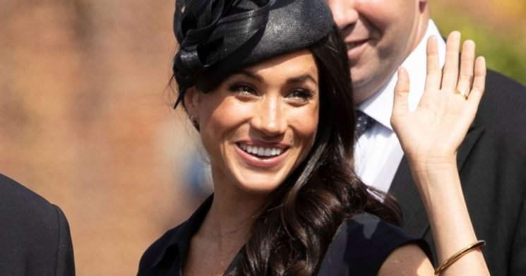 Fans sing happy birthday to Meghan Markle as she attends wedding of Harry's pal