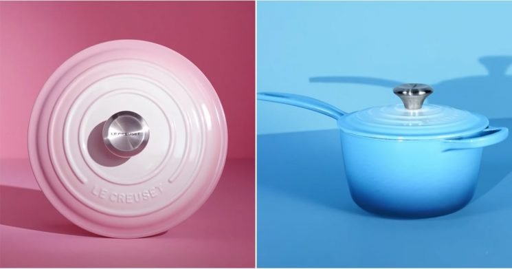Le Creuset's Ombré Line Is So Pretty, We Can't Tell If It Belongs in Our Kitchen or Closet