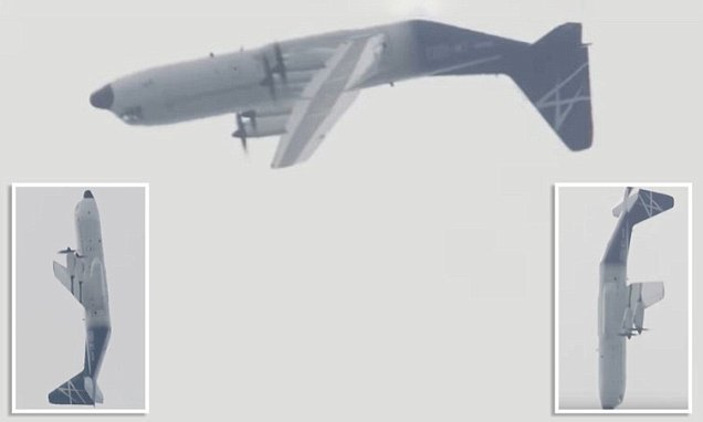 The incredible moment a Hercules transport plane does a 'LOOP'