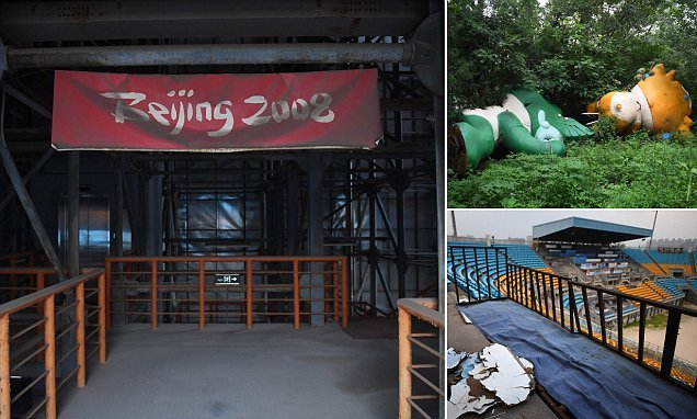 Images show abandoned venues a decade after the Beijing Olympic games