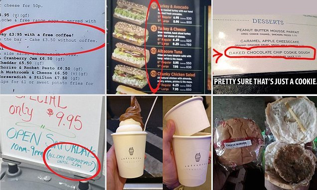 Snaps reveal infuriating restaurants that drive away diners
