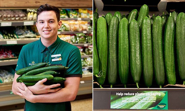 Morrison's cutting out wrapping from its cucumbers