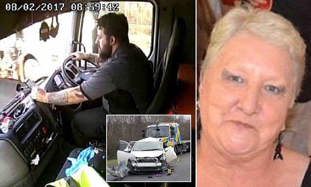 Truck driver killed a mother-of-four in crash while checking phone