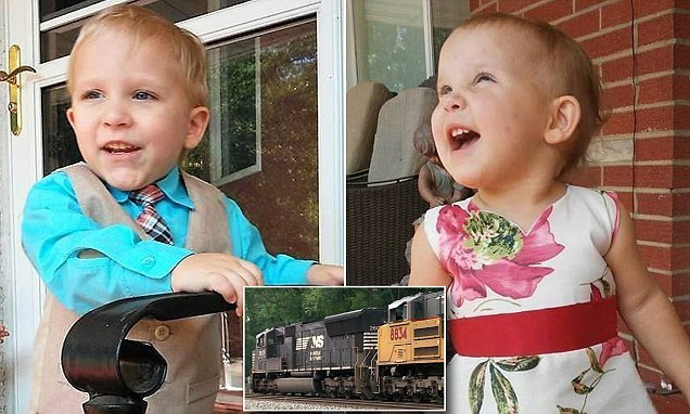 Train-loving toddler, 3, killed after he sneaked away to the tracks