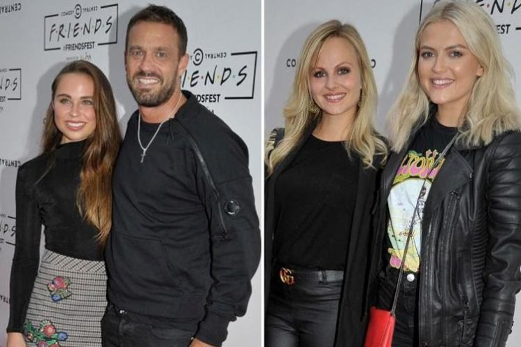 Jamie Lomas and new girlfriend Portia Hughes make first red carpet appearance as a couple as they join Coronation Street stars Lucy Fallon and Tina O'Brian at FriendsFest