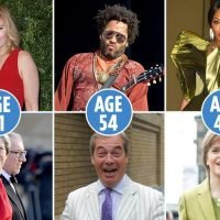 From Theresa May and Kim Cattrall to Nigel Farage and Lenny Kravitz, we compare politicians and celebs the same age – and the results will shock you