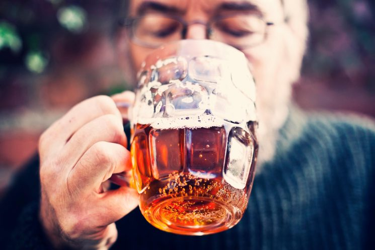 Six pints a week could lower the chance of getting dementia, a study reveals