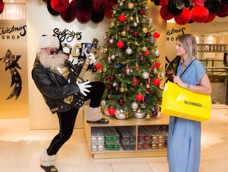 Department store Selfridges has opened its Christmas shopdespite record-breaking heatwave
